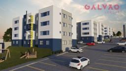 Apartamento à venda com 1 dormitórios em Lamenha grande, Almirante tamandaré cod:42680
