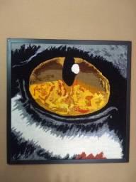 Quadro Decorativo Olho Do Tigre