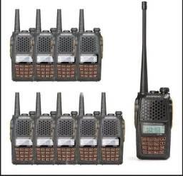 Kit 10 Rádio Ht Comunicador Baofeng Dual Band Uv-82 Rádio Fm<br>