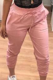 Calça jogger feminina Rosa