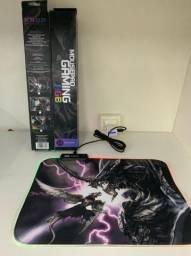 Mouse pad gaming com led / RGB 30×40 100R$