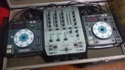 Par de cdj denon ( mixer e case)R$ 1800,00