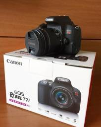 3dd95b43d8 Kit Canon T7i Rebel+lente18/55mm kit (NOVA/SEM USO/GARANTIA
