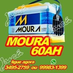 Super Promoção Bateria Moura 60 ah em 10 parcelas de R$36,00
