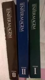 Didático De Enfermagem Teoria E Prática 3 Volumes + Brinde