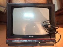 Tv Tubo Philips 14 Polegadas 28 Ct7693 Com Manuais Defeito Sem Imagem Para Retirada Peças!