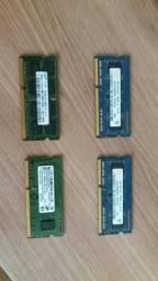 Memória RAM 2gb / 4 unidades