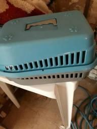 Gaiola para carregar cão e gatos na cor azul