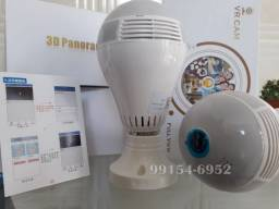 1 Câmera Espiã IP Lampada Wi-Fi Panorâmica LED 360 Bivolt