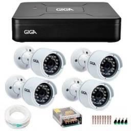 R$ 1.300 Kit de 4 Câmeras da Giga em Promoção Garantia de um ano na loja