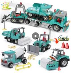Conjunto de carrinhos de construção civil 4 in 1
