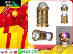 Lampião 3 em 1 com Lampada colorida e lanterna