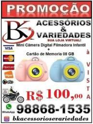 Mini Câmera Digital Filmadora Infantil+ 1 Cartão de Memória de 08 GB -Entrega Grátis