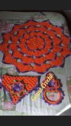 Kit de cozinha em crochê 3peças em crochê