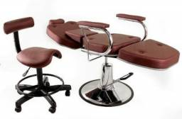 Cadeira / Maca maquiador, atendimento poltrona + mocho