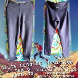 Calça Legging Azul Escuro Tam G