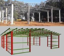 Pavilhões metálicos e Cobertura metálica