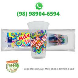 Copo Descartável Milk-shake 300ml 50 und