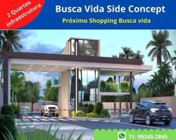 Busca Vida Side Concept, 2 quartos, 69 m², infraestrutura , próximo Shopping Busca Vida
