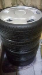Vendo rodas orbital aro 20 com 4 pneus novo