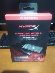 amplificador para headsets. hyperx gamer 7.1 amp semi-novo