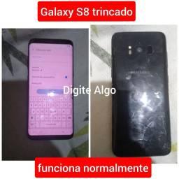 Samsung Galaxy S8 tela quebrada funcionando normal