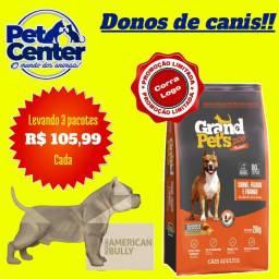 RAÇÃO  GRAND PETS  PREMIUM 20 KG