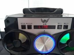 Caixa De Som Portátil Altomex A-80 Com Bluetooth Fm Sd Pendrive- 15watts
