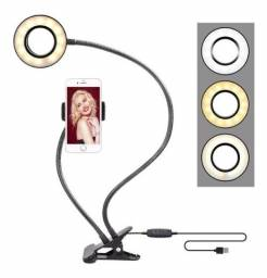 Ring Light + Suporte Celular Selfi Luminaria Abajur Youtuber