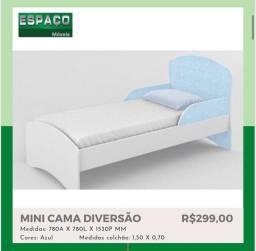 Mini cama Azul # Entrega E Montagem Grátis