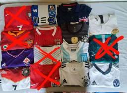 Lote de camisas futebol
