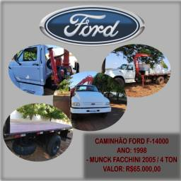 Caminão Ford F-14000 com Munck Facchini 4 Ton