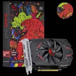 Usado - Placa de Video Radeon PCYes RX 550 4GB Gddr5 Graffiti