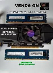 Kit- PLACA DE VÍDEO GTX 1050 + DUAS MEMÓRIAS RAM 4GB CADA DDR3 LEIA O ANÚNCIO