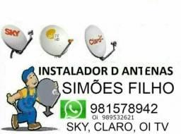 Instalação de antena em Simões Filho