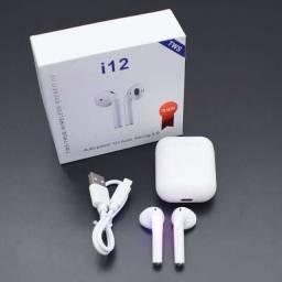 Fone de ouvido i-12 via bluetooth produto novo e de otima qualidade valor 70,00
