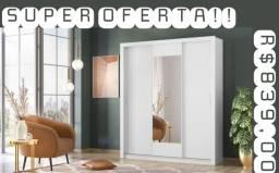 Guarda roupas Vero com Espelho HIPER PROMOÇÃO