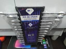 Kit Jogo DE Chaves Combinada 12 Peças