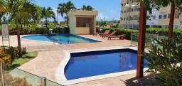 Alugo apartamento de 3 quartos com suíte e varanda no Condomínio Clube em Lauro de Freitas