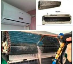 Limpeza e manutenção de split