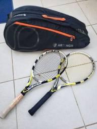2 raquetes tenis babolat aero e bolsa artengo