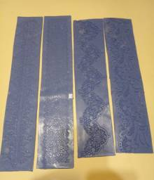 Faixas moldes de silicone para renda de açúcar e pasta americana