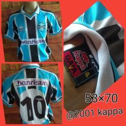 Camisa Grêmio kappa 2001 ( tamanho p veste m/g)