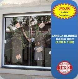Janela Blindex 1,20 x 1,00 (Instalada)