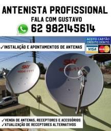 Antenas/instalação