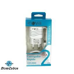 Carregador Rápido Smart 3.1A Tipo C Com 2 Saídas USB Car-2084D - Inova