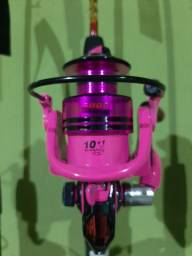 Molinete rosa 3000 novo