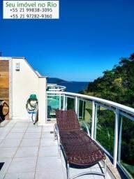 Seu Imóvel no Rio-Costa Verde-Cobertura duplex com piscina e churrasqueira