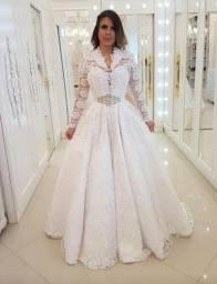 Aluguel vestido de noiva tamanho P