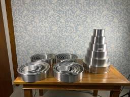 5 conjuntos de 6 formas de alumínio